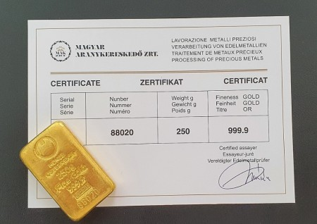 arany certificate